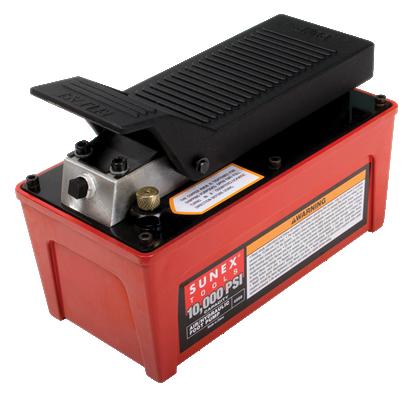 10,000 PSI Capacity Air/Hydraulic Foot Pump 1