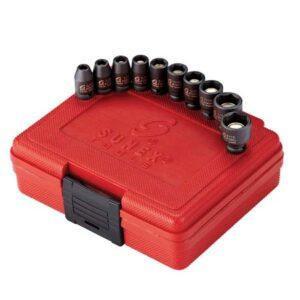 "1/4"" Dr. 10pc Magnetic Impact Socket Set SAE"