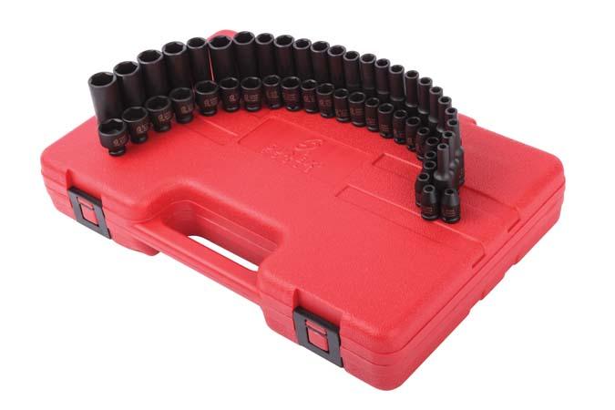 "New 48pc 3//8/"" Dr SAE /& Metric Deep /& Shallow Impact Socket Adaptor Reducer Set"