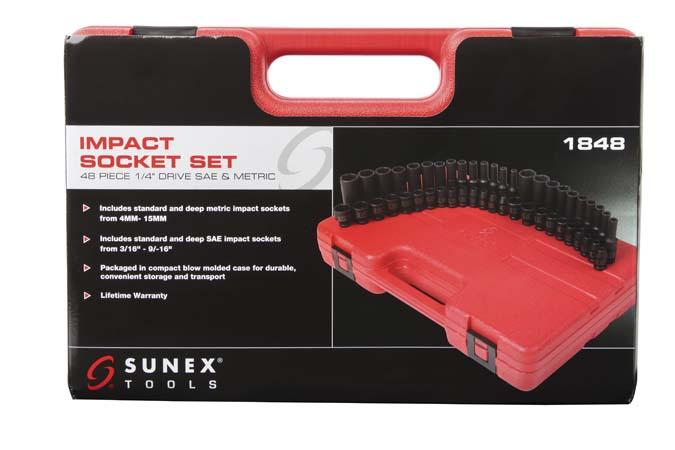 1848 - 1/4″ Dr  Master Impact Socket Set 48-Piece