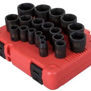 "1/2"" Dr. 19 Pc. SAE Impact Socket Set"