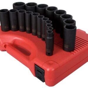 "1/2"" Dr. 19 Pc. SAE Deep Impact Socket Set"