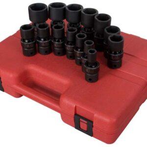 """1/2"""" Dr. 14 Pc. SAE Universal Impact Socket Set"""