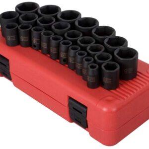 "1/2"" Dr. 26 Pc. Metric Impact Socket Set"