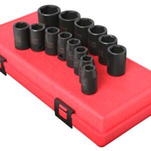 "1/2"" Dr. 14 Pc. Metric Impact Socket Set"