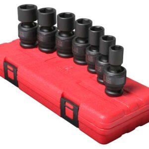 """1/2"""" Dr. 7 Pc. SAE Universal Impact Socket Set"""