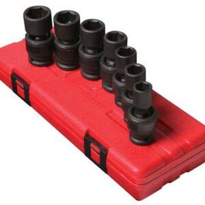 "1/2"" Dr. 7 Pc. Metric Universal Impact Socket Set"