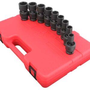 """1/2"""" Dr. 9 Pc. SAE Universal Impact Socket Set"""