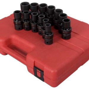 "1/2"" Dr. 13 Pc. Metric Universal Impact Socket Set"