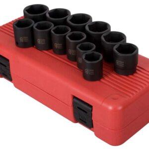 "1/2"" Dr. 12 Pc. Metric Impact Socket Set"