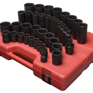 "1/2"" Dr. 12 Pt. 39 Pc. SAE Master Impact Socket Set"
