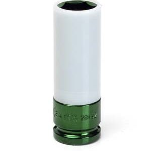 "1/2"" Dr. 3/4"" Extra Thin Wall Deep Wheel Protector Impact Socket-Lt. Green"