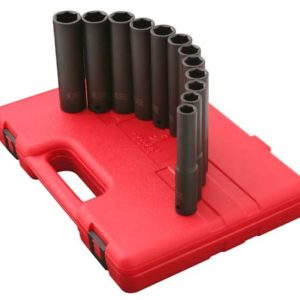 "1/2"" Dr. 9 Pc. Metric Extra Long Deep Impact Socket Set"