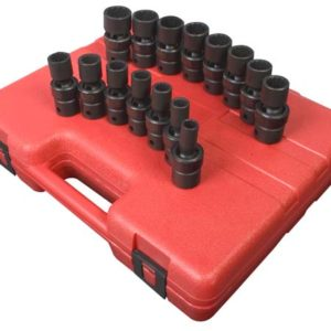 "1/2"" Dr. 12 Pt. 15 Pc. Metric Universal Impact Socket Set"