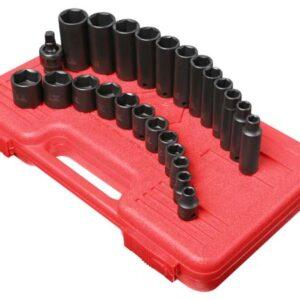"""3/8"""" Dr. 25 Pc. SAE Master Impact Socket Set"""
