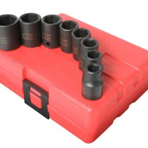 "3/8"" Dr. 8 Pc. Metric Impact Socket Set"
