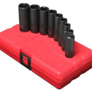 "3/8"" Dr. 8 Pc. SAE Deep Impact Socket Set"