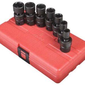 """3/8"""" Dr. 7 Pc. SAE Universal Impact Socket Set"""