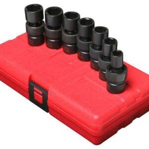 "3/8"" Dr. 7 Pc. Metric Universal Impact Socket Set"