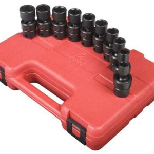 "3/8"" Dr. 10 Pc. Metric Universal Impact Socket Set"
