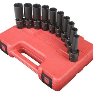 "3/8"" Dr. 10 Pc. Metric Universal Deep Impact Socket Set"