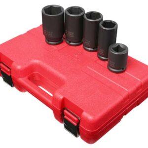 """3/4"""" Dr. 5 Pc. SAE & Metric Wheel Service Impact Socket Set"""
