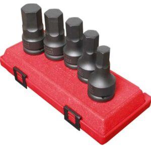 "3/4"" Dr. 5 Pc. SAE Hex Drive Impact Socket Set"