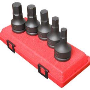 "3/4"" Dr. 5 Pc. Metric Hex Drive Impact Socket Set"