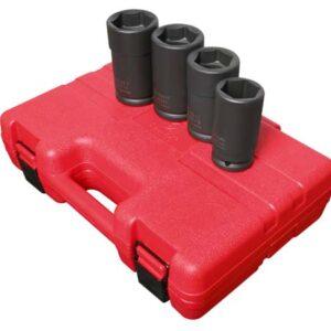 "3/4"" Dr. 4 Pc. Combination Budd Wheel Impact Socket Set"