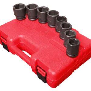 "3/4"" Dr. 8 Pc. SAE Impact Socket Set"