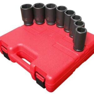 "3/4"" Dr. 8 Pc. SAE Deep Impact Socket Set"