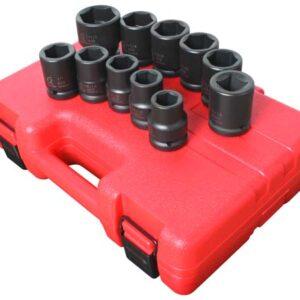 "3/4"" Dr. 11 Pc. SAE Truck Service Impact Socket Set"