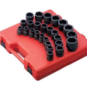 "3/4"" Dr. 26pc Metric Impact Socket Set"