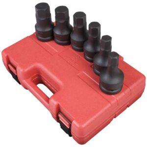 "1"" Dr. 6 Pc. SAE Hex Drive Impact Socket Set"