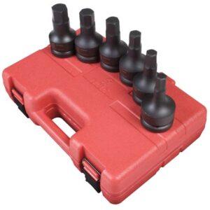"1"" Dr. 6 Pc. Metric Hex Drive Impact Socket Set"