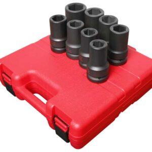 "1"" Dr. 8 Pc. SAE Deep Impact Socket Set"