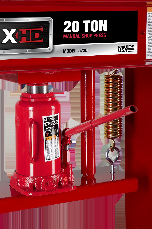 20 Ton Hydraulic Shop Press Sunex Tools