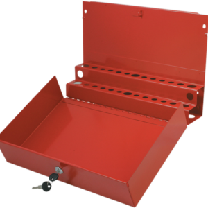 Large Locking Screwdriver/Pry Bar Holder for Service Cart-Red