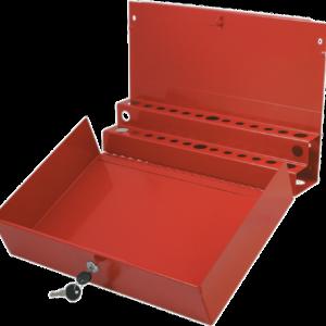 Large Locking Screwdriver/Pry Bar Holder for Service Cart-Red