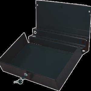 Large Locking Screwdriver/Pry Bar Holder for Service Cart-Black
