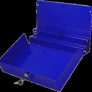 Large Locking Screwdriver/Pry Bar Holder for Service Cart-Blue