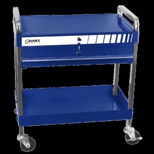 Service Cart w/Locking Top and Locking Drawer-Blue