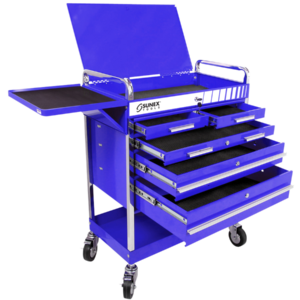 Professional 5 Drawer Service Cart w/Locking Top-Blue