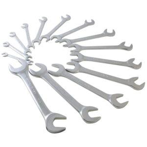 14 Pc. SAE Fully Polished Angle Head Wrench Set